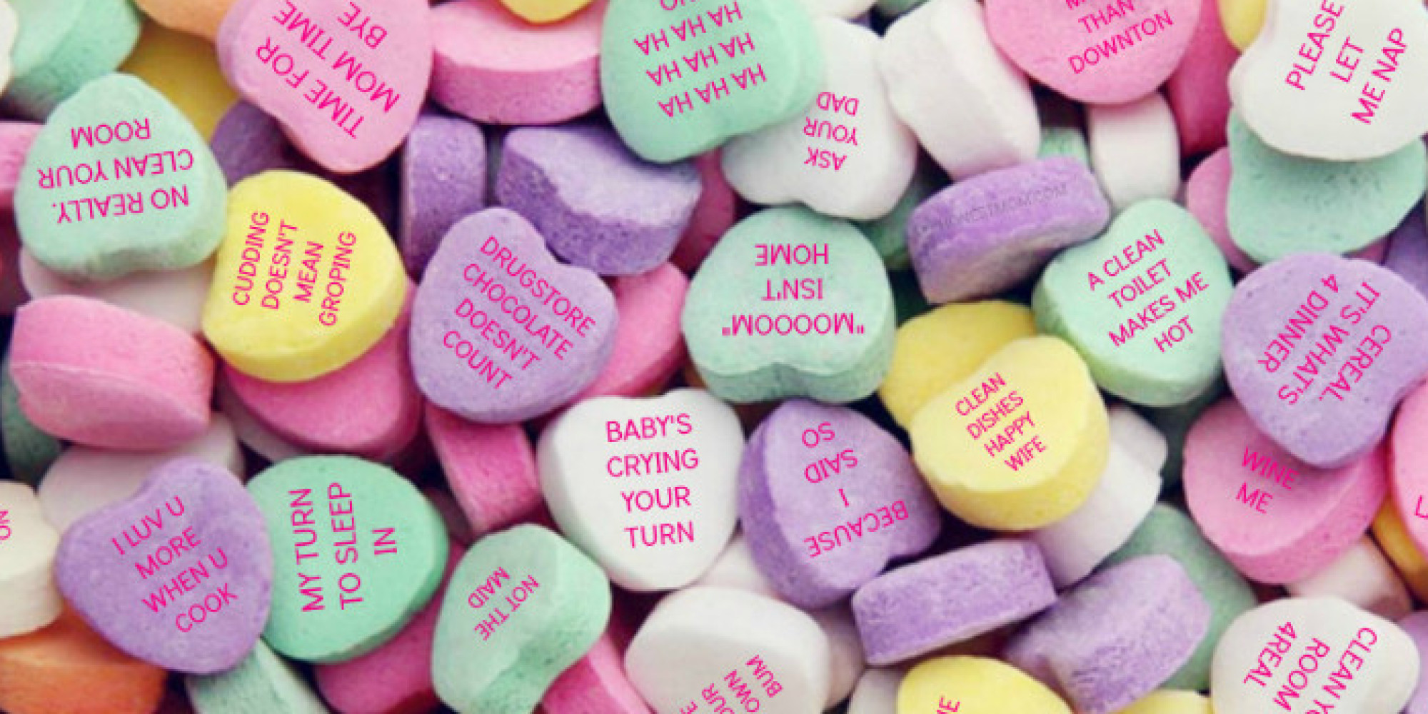 valentines day meme for a broken heat - If Moms Wrote Candy Conversation Hearts