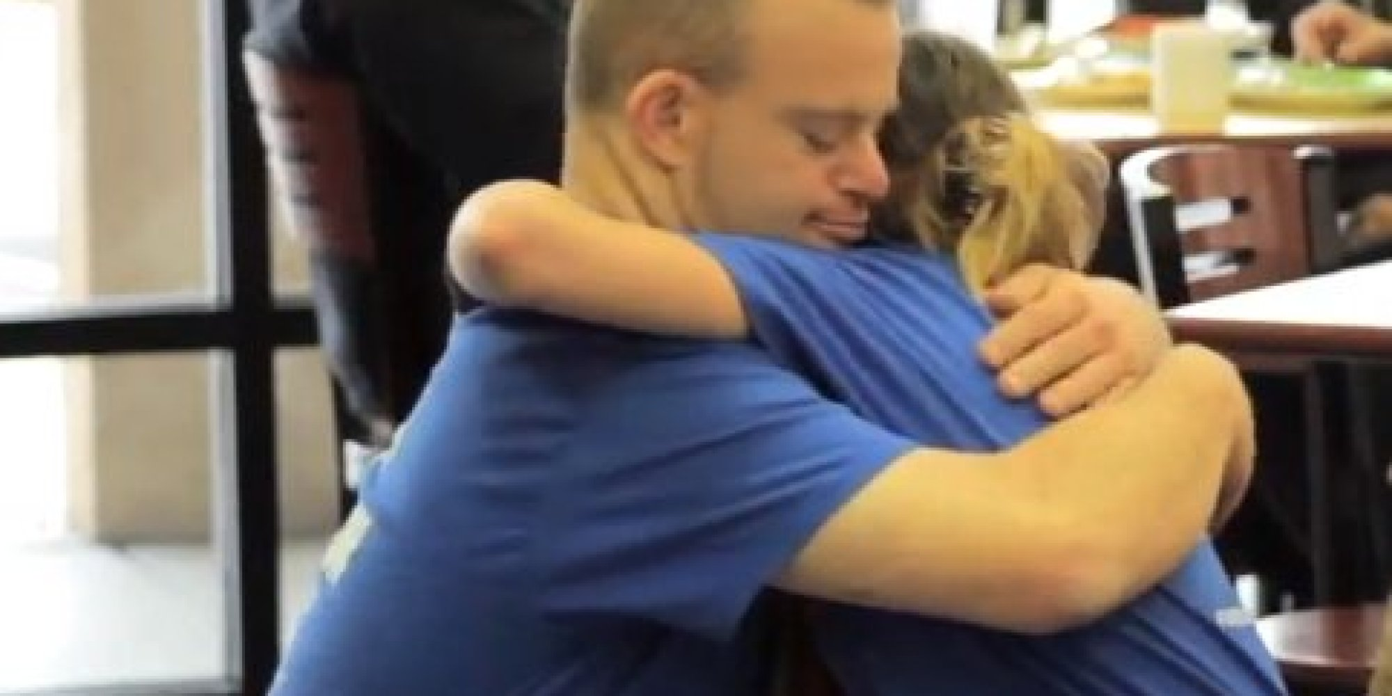 Restaurant Founder With Down Syndrome Hugs More Than 2,000 People In 4 Days