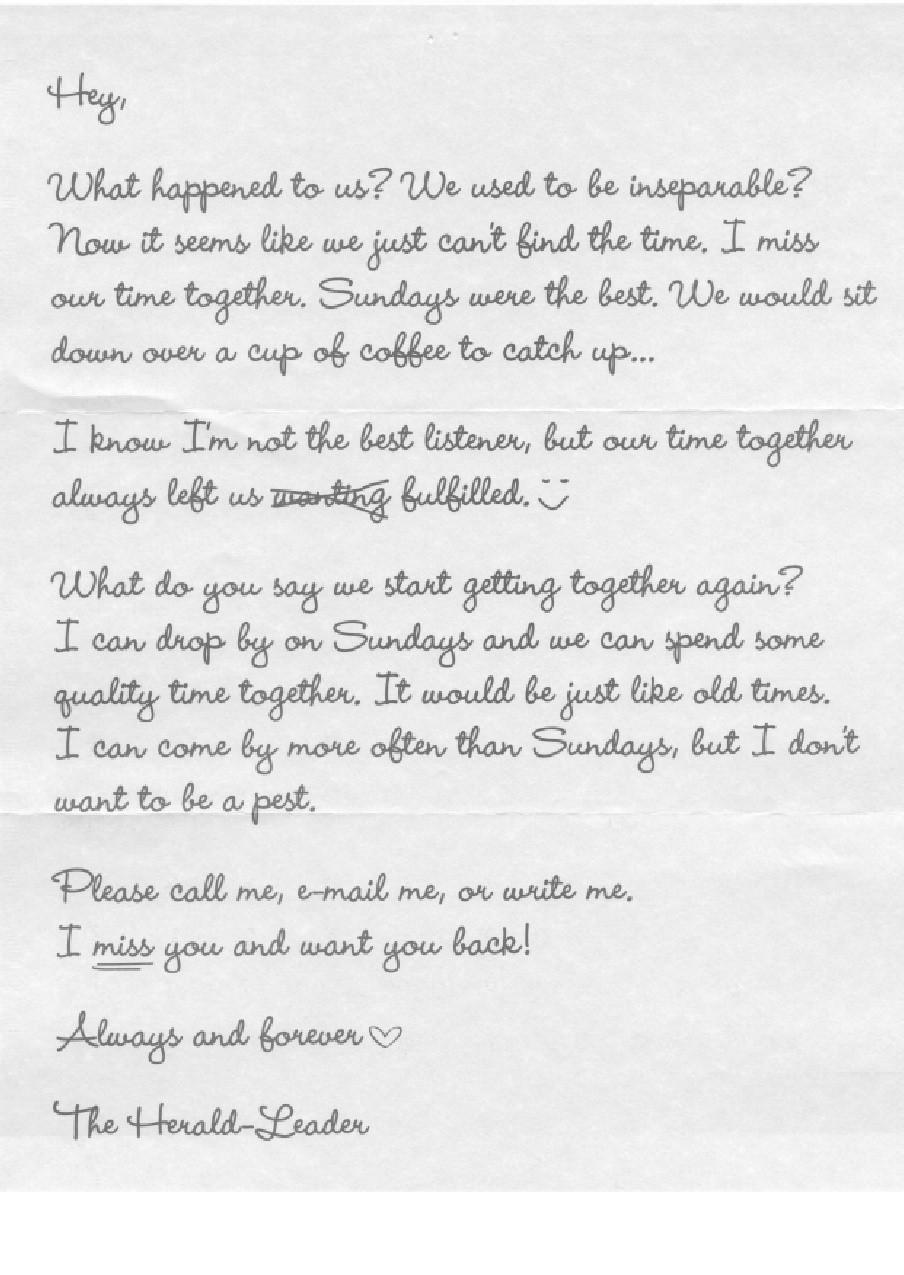 newspaper letter