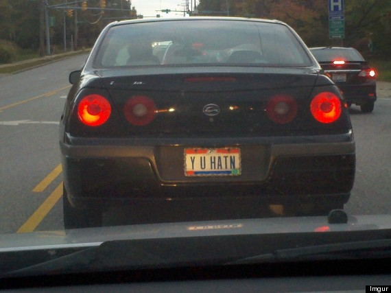 Vanity Plates That Will Make You Shake Your Head Huffpost
