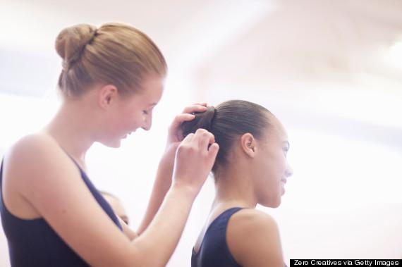 bun hair ballet