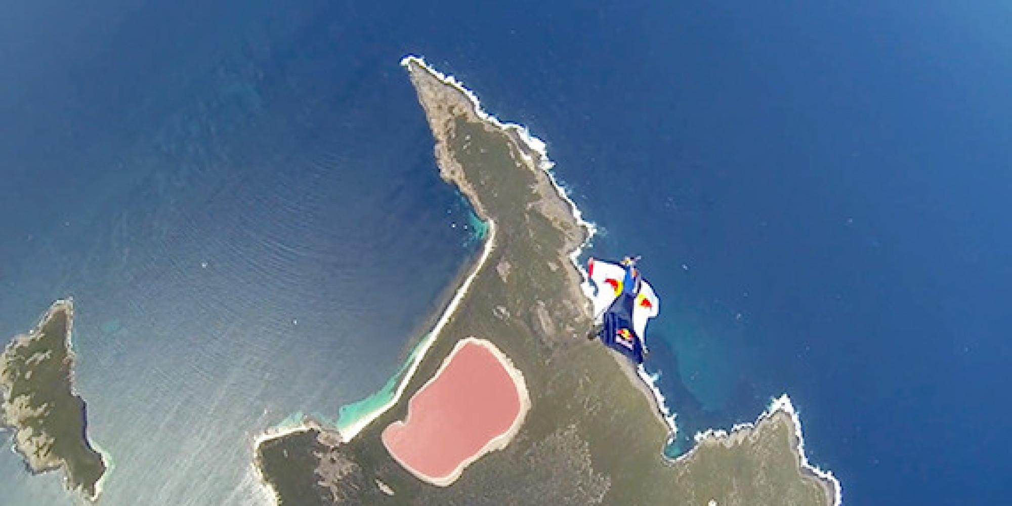 CHUCK-BERRY-WINGSUIT-PINK-LAKE-AUSTRALIA-facebook jpgPink Lake Map
