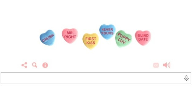 Google Doodle Celebrates Valentine's Day With Candy Hearts ...