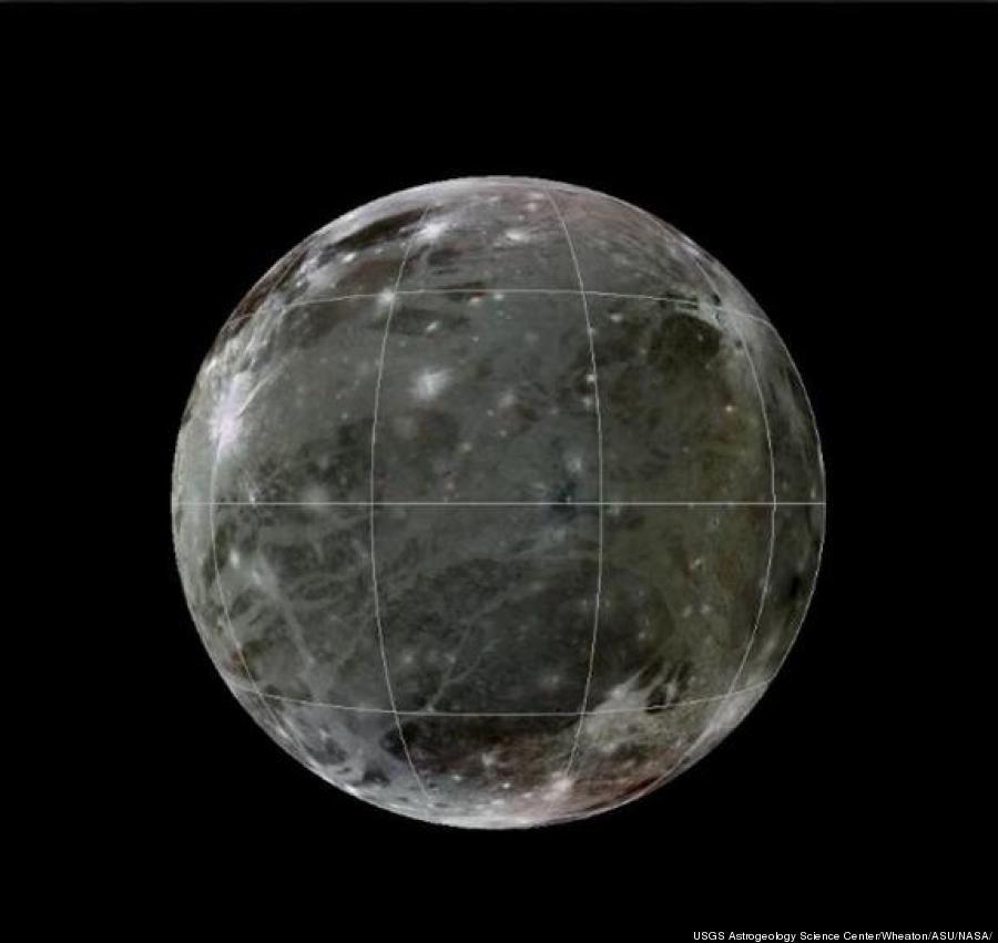 Galilean Moons Ganymede Largest Moon Ganymede is