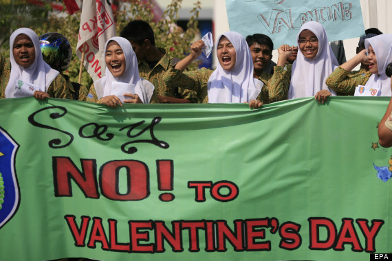 valentines day protest
