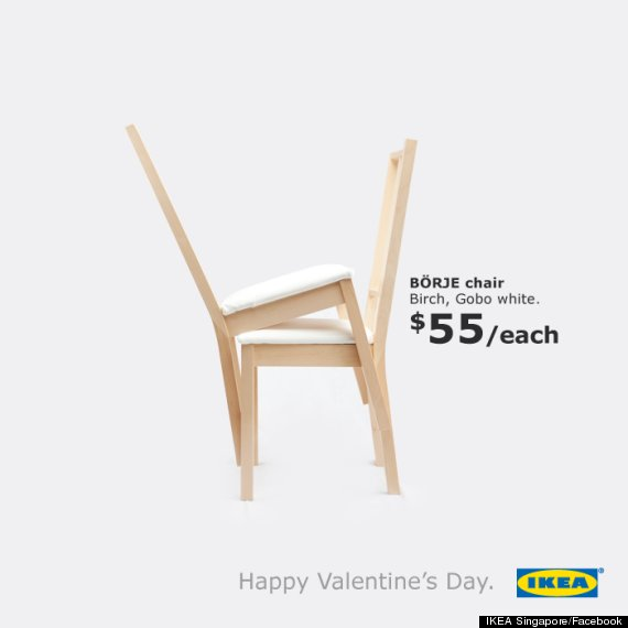 Ikea Chairs Get Freaky In This Epic Valentine S Day Ad Photo