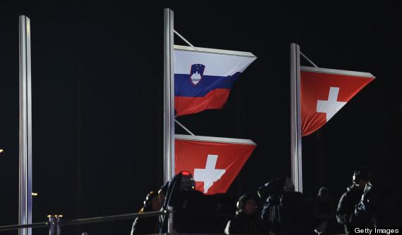 dominique gisin flags