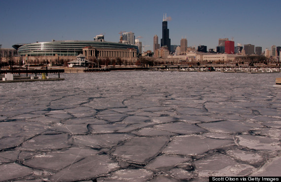 great lakes frozen february