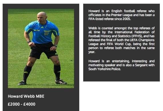 howard webb comedians