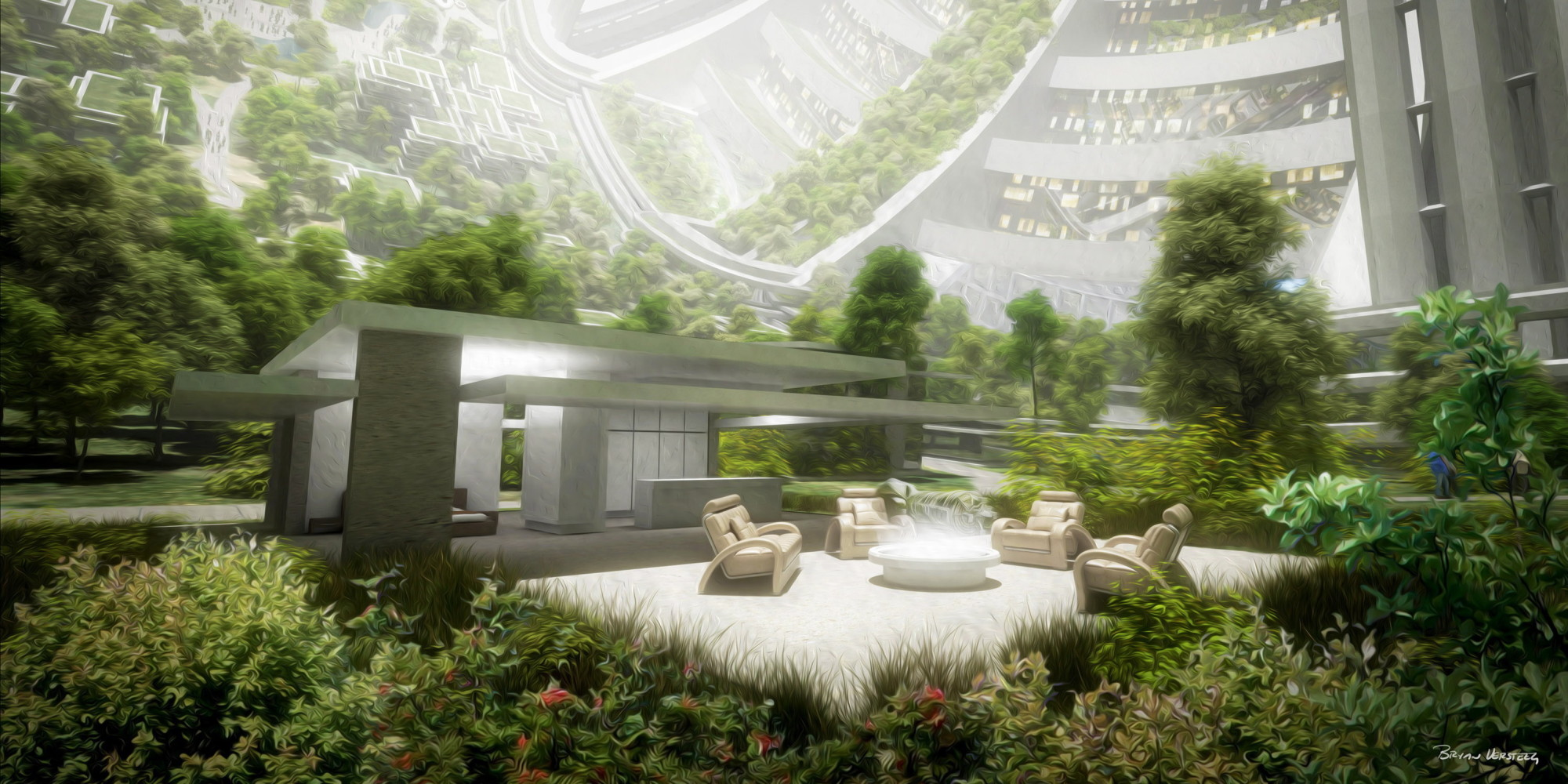 Mars one habitat concept by bryan versteeg shows how we for Outer space garden design cumbria