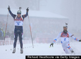 Early Celebration Almost Cost Biathlete Gold Medal