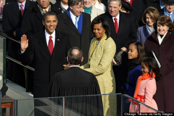 2009 obama chief justice john roberts sworn in