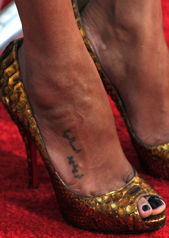 Her foot several months ago: