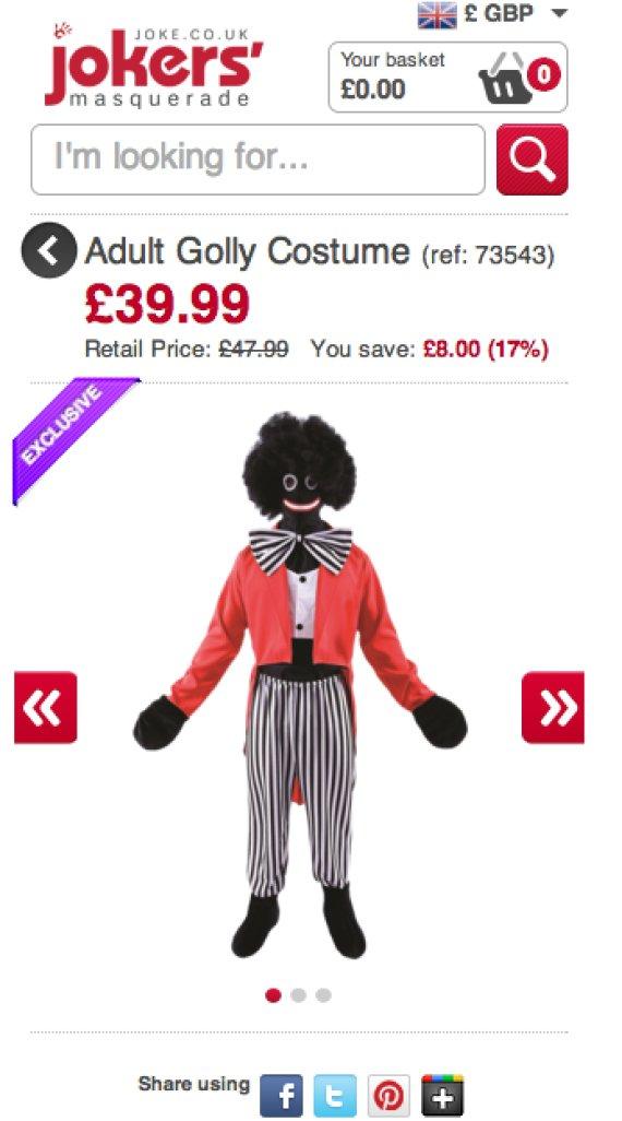golly costume