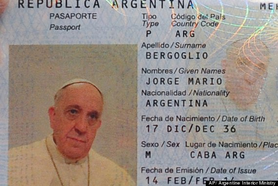 pope francis passport