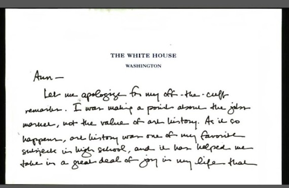 President Obama Sends Handwritten Apology To Art History Professor