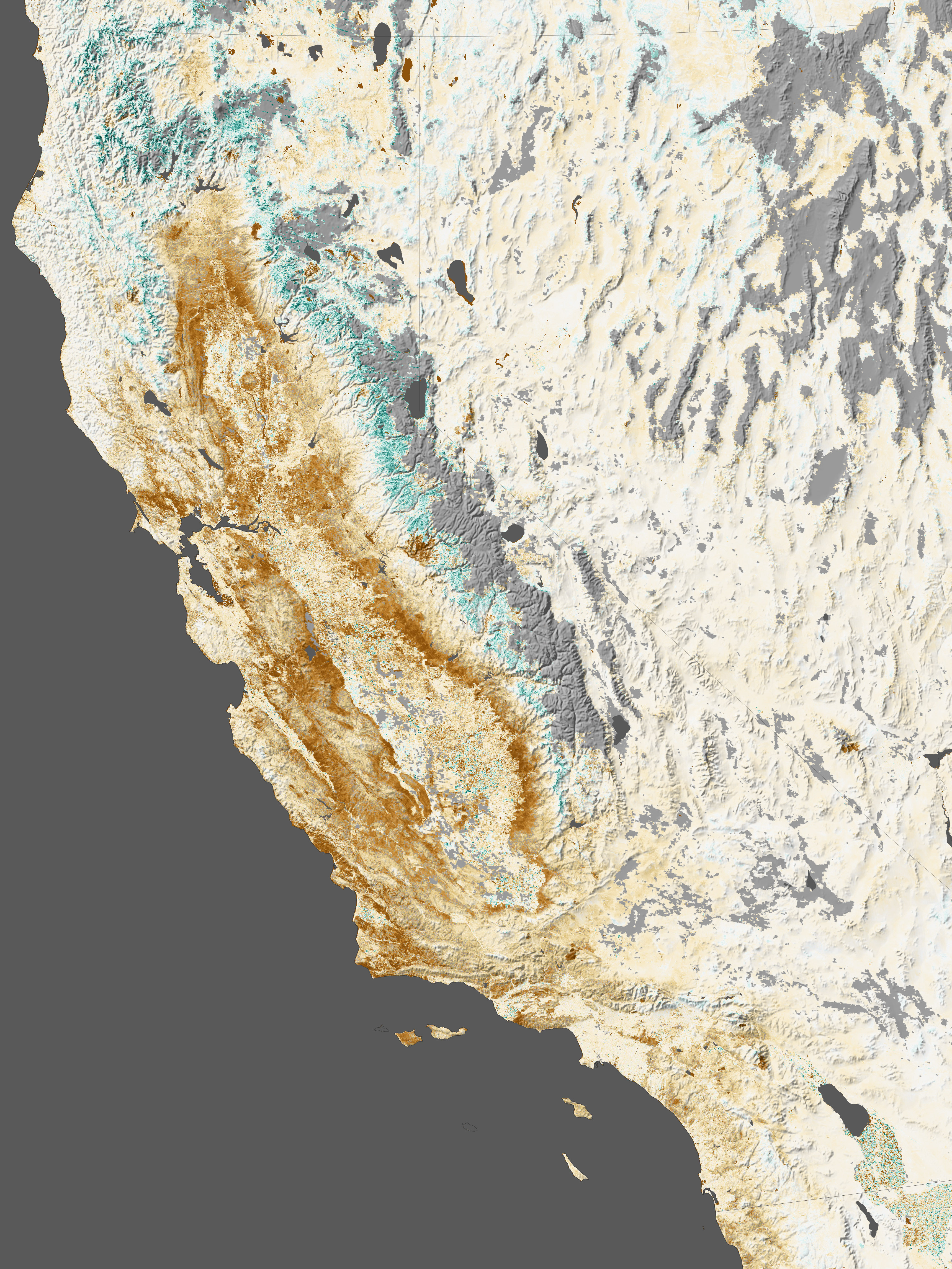 California's Drought Is So Bad, You Can See It From Space