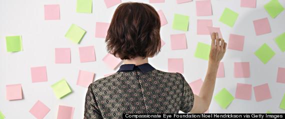 women sticky notes