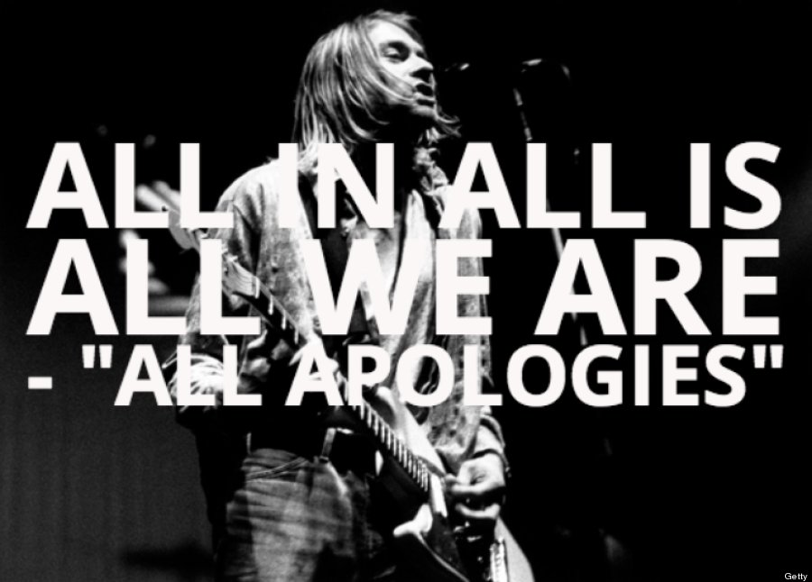 lyric nirvana all apologies:
