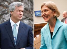 Jamie Dimon And Elizabeth Warren