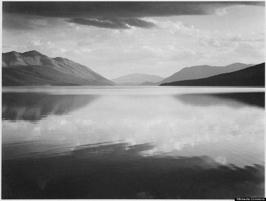 Evening McDonald Lake Glacier National Park by Ansel Adams
