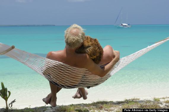 older person in hammock