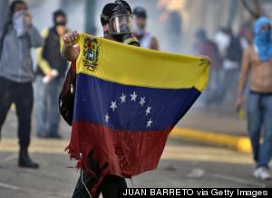 VENEZUELA PROTESTS FLAG