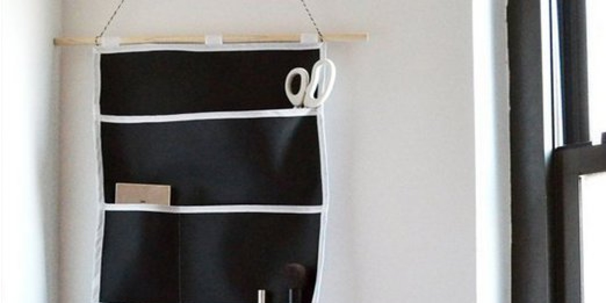 this diy wall organizer is perfect for small items or office supplies
