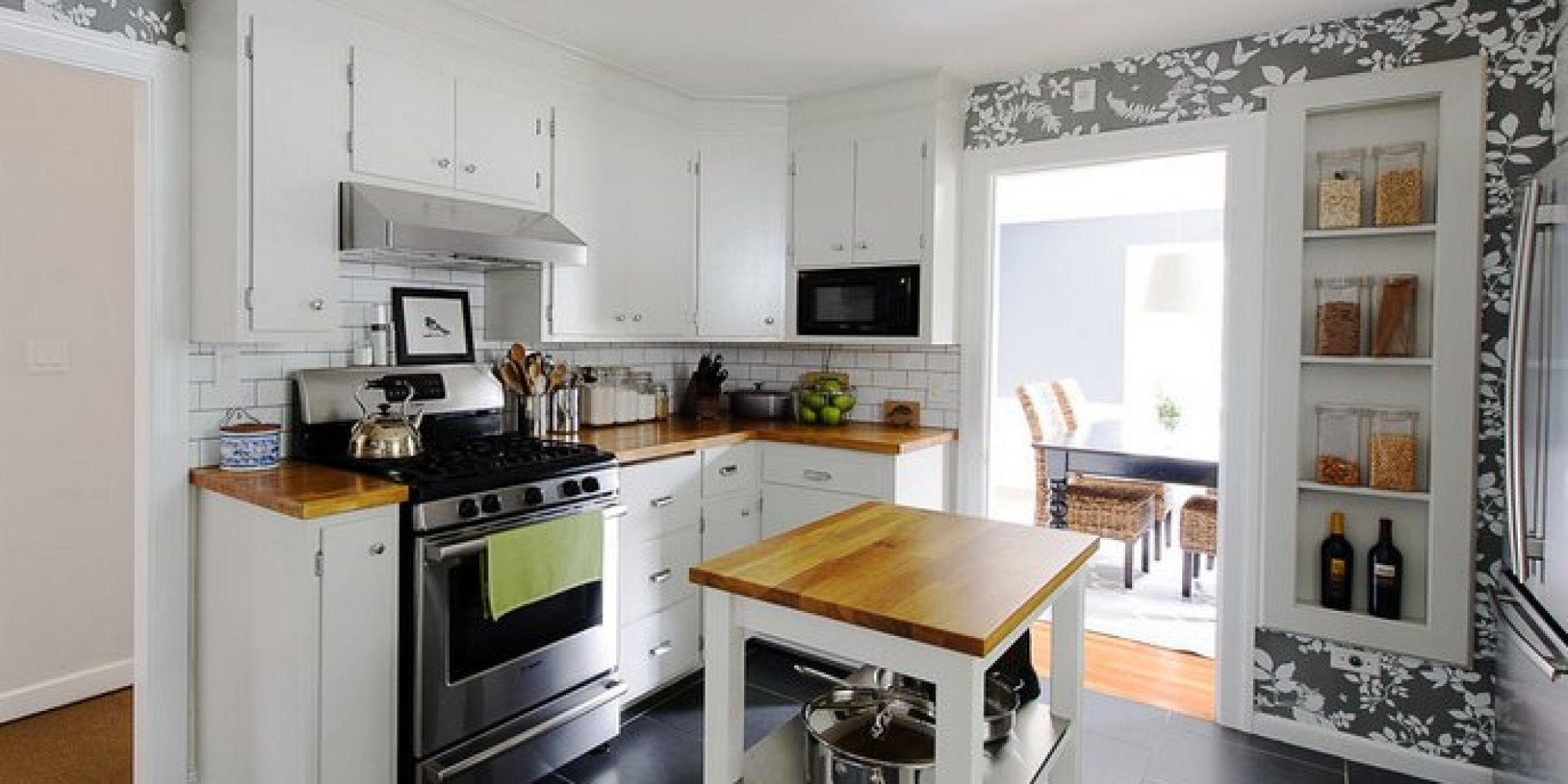 Small Kitchen Design On A Budget add an island 19 Inexpensive Ways To Fix Up Your Kitchen Photos Huffpost