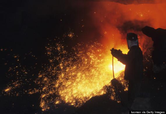 boiling metal