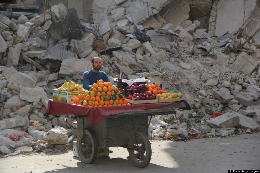 syrian fruit vendor