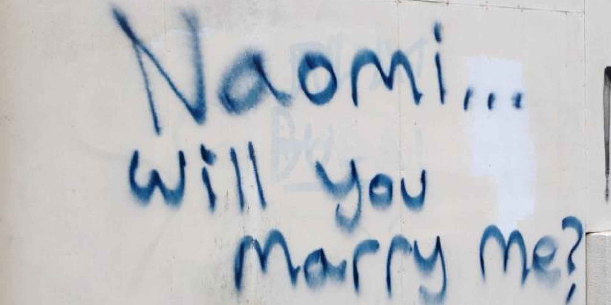 fifty shades of grey proposal garden graffiti fail will make you second guess that public proposal