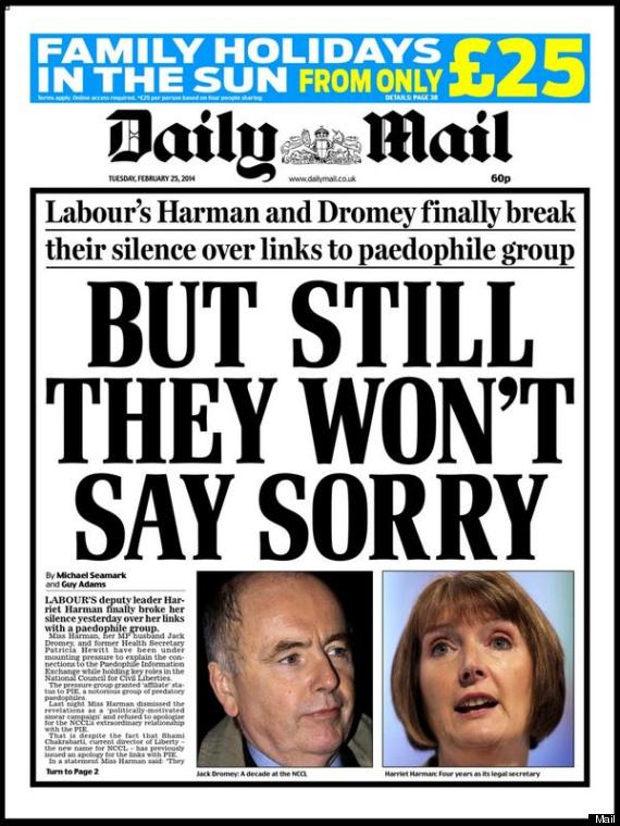 Image result for harriet harman mail paedo