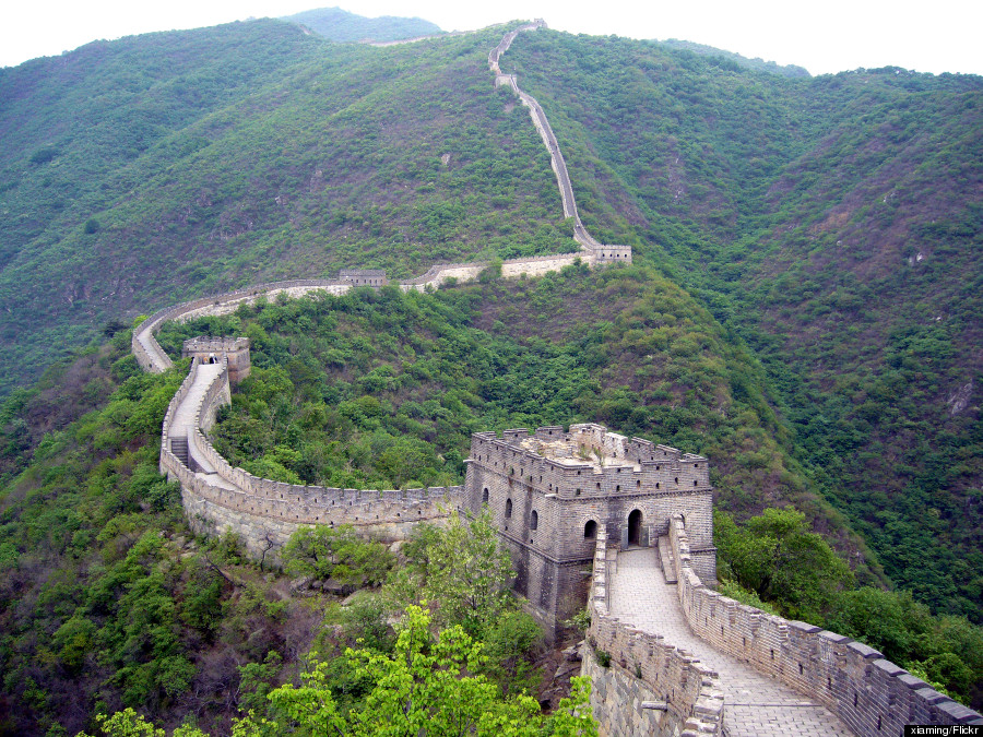 running great wall of china