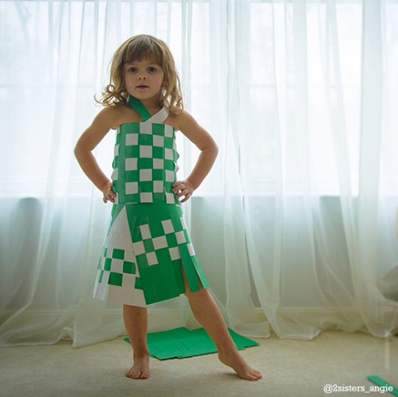 Girl designs paper dresses images