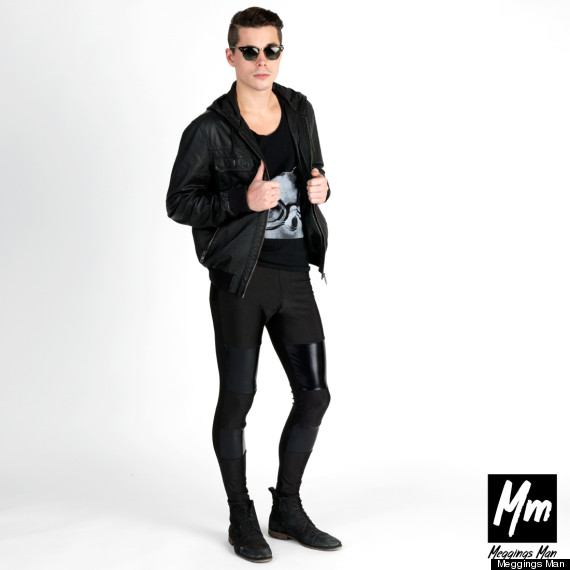 meggings black black