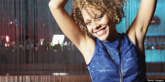 black woman dancing