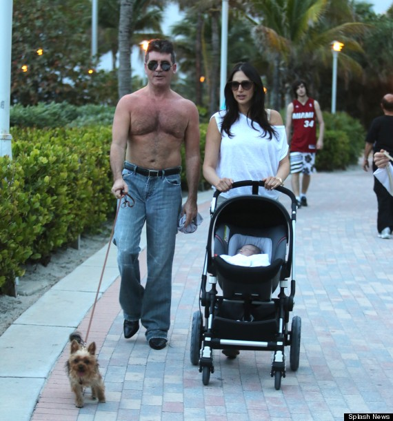 Simon Cowell Forgets His Shirt Wears Naffest Jeans