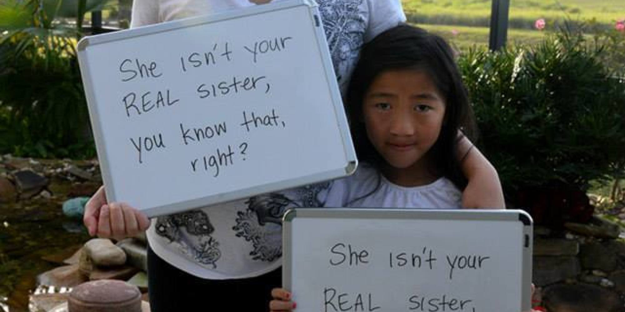 37 Ignorant Things These Sistersmonly Hear About Adoption  Huffpost