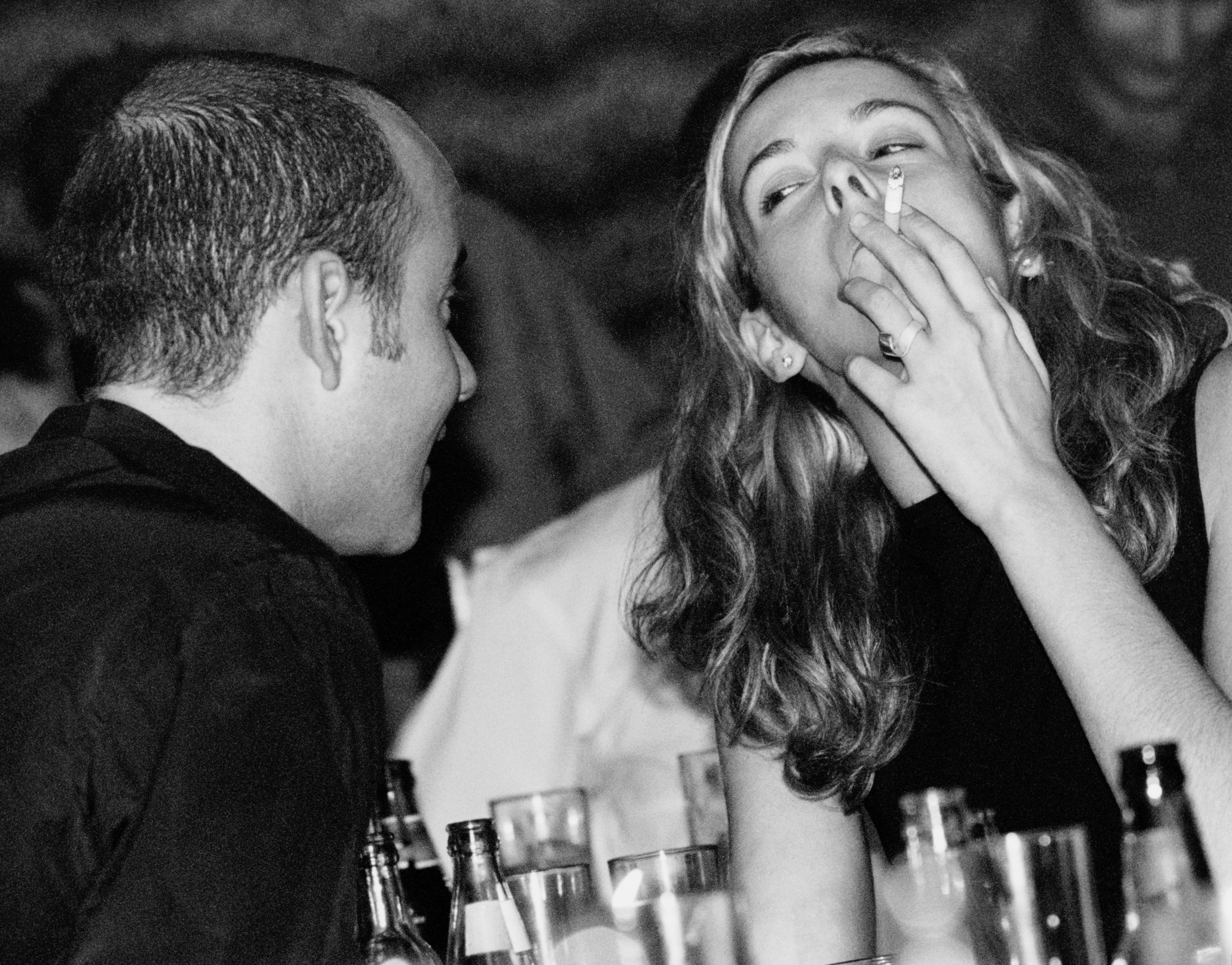woman bar smoking