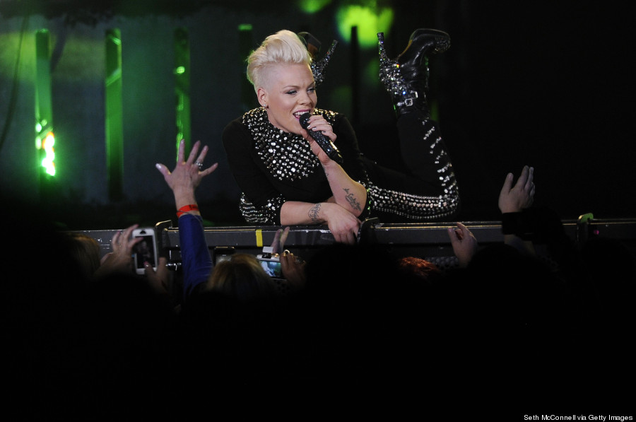 pink performs