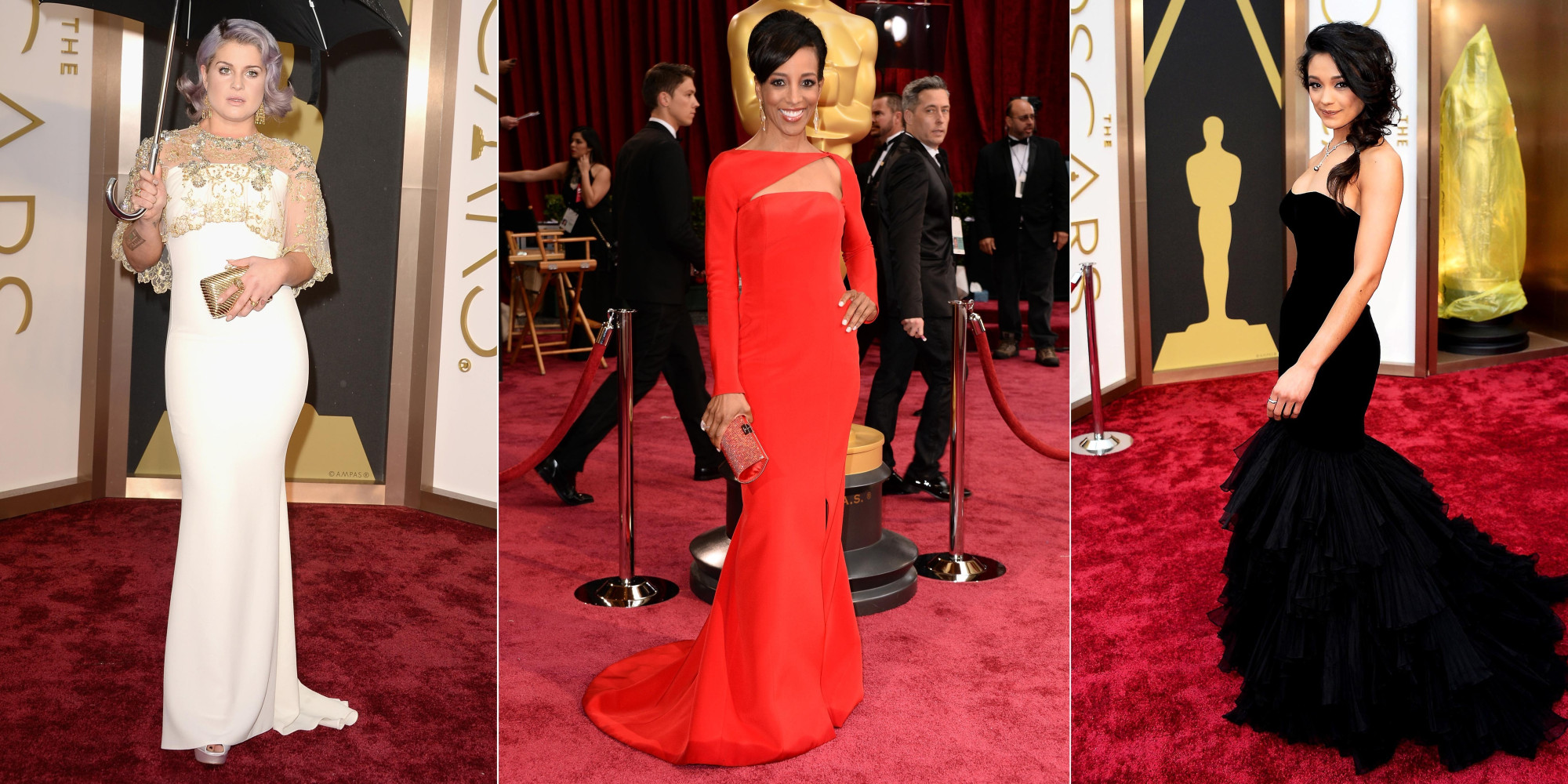 Oscars 2014 red carpet see all the stunning gowns from the academy awards photos huffpost - Red carpet oscar dresses ...