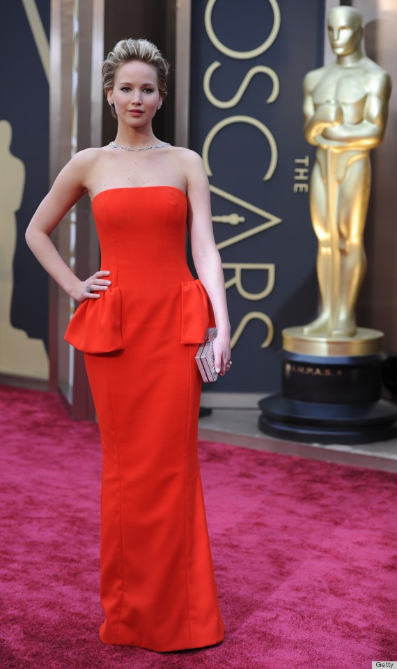 Jennifer Lawrence\'s Oscar Dress 2014 Causes Her Red Carpet Fall ...