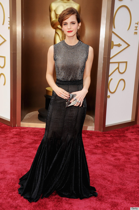 emma watson 39 s oscars 2014 dress gets rave reviews but. Black Bedroom Furniture Sets. Home Design Ideas