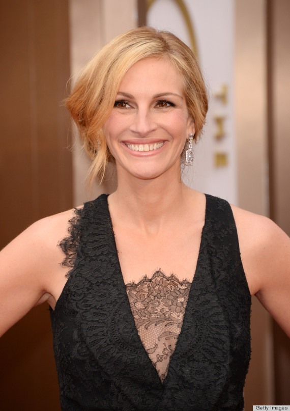 Julia roberts 39 oscar dress 2014 is peplum perfection for O track capelli