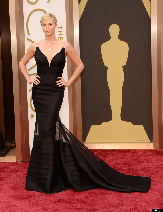 charlize theron oscar dress 2014