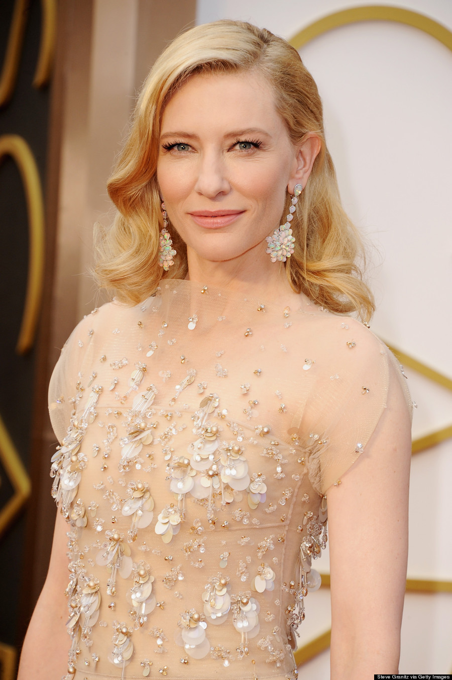 cate blanchett oscars 2014 armani gown washes her out