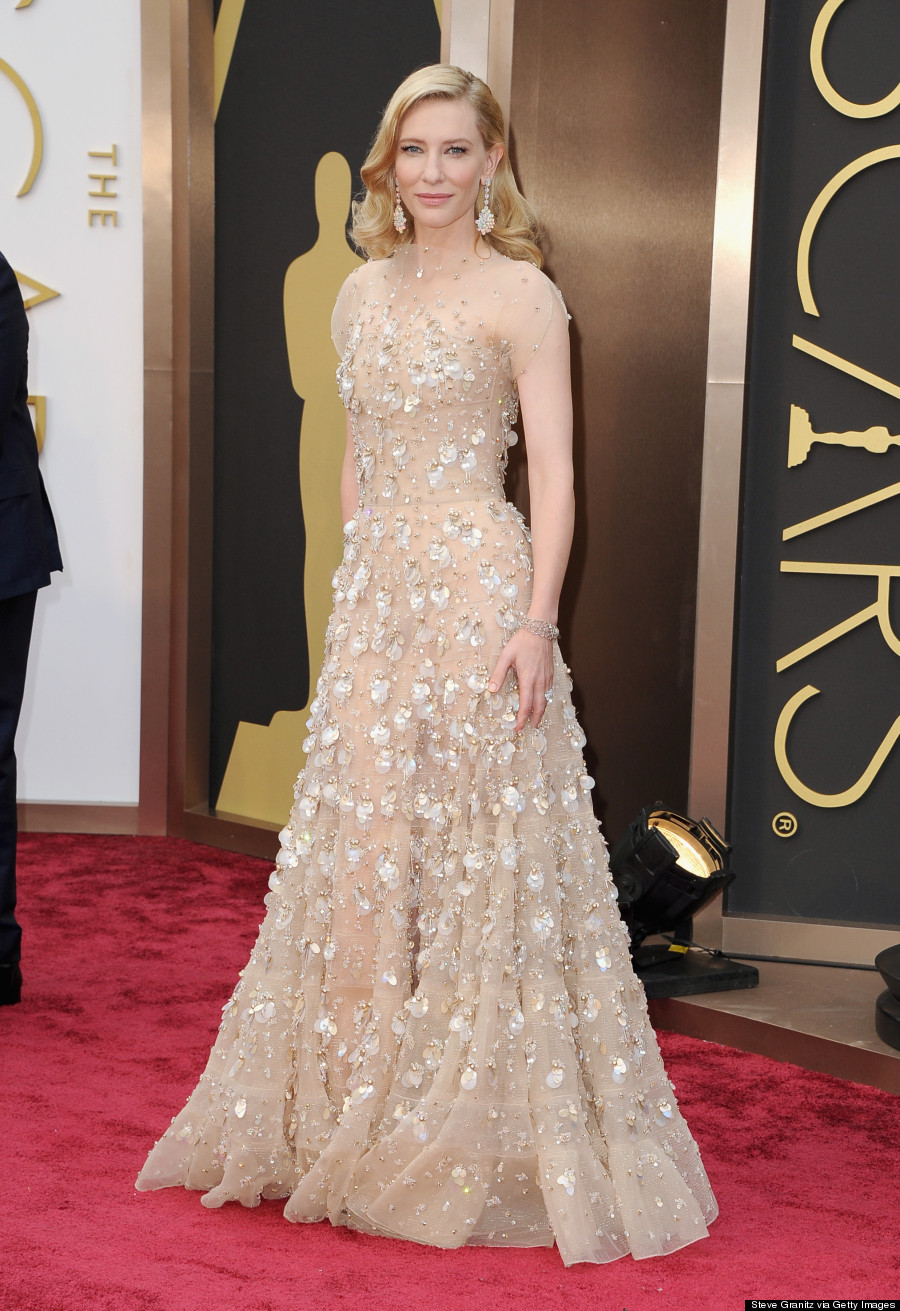 Cate Blanchett Oscars 2014  Armani Gown Washes Her Out Completely    Cate Blanchett Oscars 2014