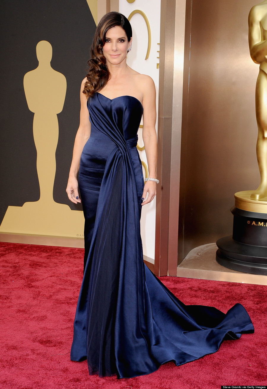 Sandra bullock 39 s oscar 2014 dress wins the red carpet photos - Red carpet oscar dresses ...