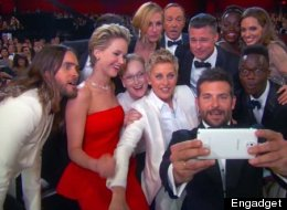 Great Selfie - But Did 'Oscars' Host Ellen Switch To An iPhone Backstage?